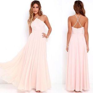 Lulu's Everlasting Enchantment Peach Maxi Dress
